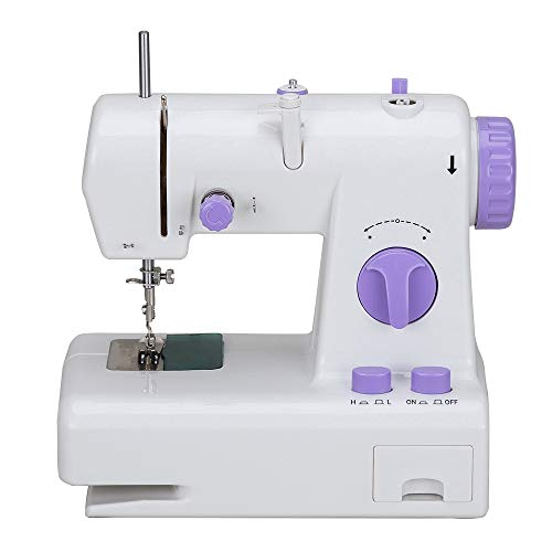 Best Price Mini Beginner Sewing Machine, Household Portable Multi-function Electric Two-line Two-spe...