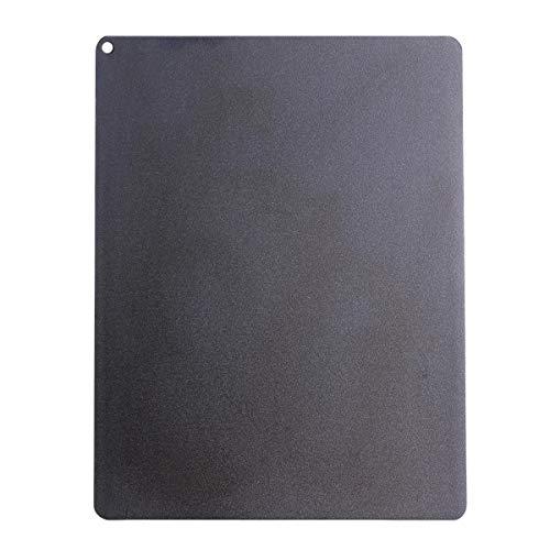 SANTOS Backplatte Carbonstahl, Pizzastein aus Stahl, Eckig, 35 x 45 cm