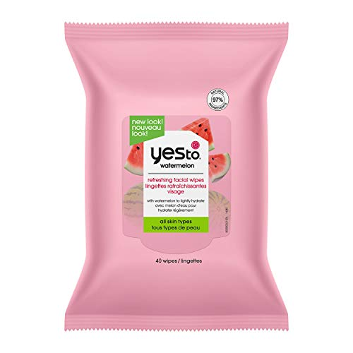 Yes To, Watermelon Super Fresh Facial Wipes Removes Makeup, Cleanses and Hydrates, 40 Wipes
