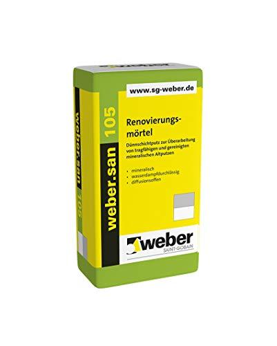 Weber.san 105 Renovierungsmörtel Dünnschichtputz Renovierungsmörtel Kalkzementputz Mörte