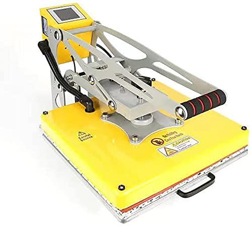 HYCy 38 * 38 magnética semiautomática de Cama Plana de Alta presión tirando de la máquina de Prensa de Calor de impresión de Ropa pequeña máquina de Estampado en Caliente de Logotipo