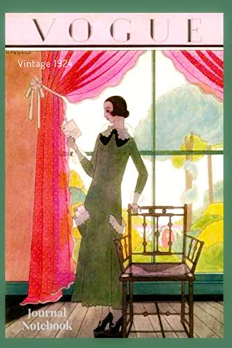VINTAGE VOGUE JOURNAL NOTEBOOK: Cover inspired by vintage fashion magazine - 120 lined pages - 6' x 9'