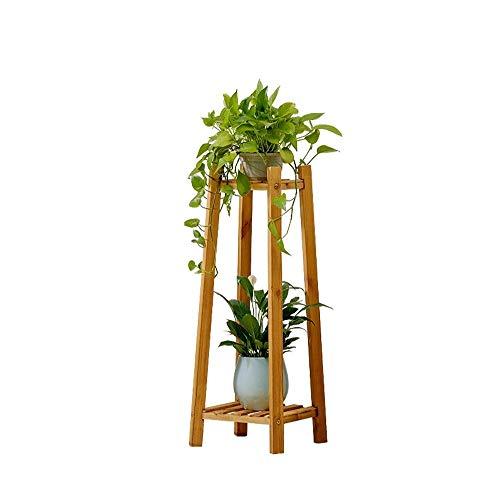 Zhna Blumenregal Zimmer Einbau-Dekoration Multi-Layer-Massivholzboden Grün Dill Topfboden (Size : M)