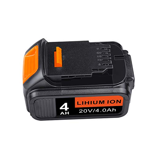 DCB204 20V 4000mAh Lithium Battery Replacement for Dewalt 20-Volt MAX XR Batteries DCB200 DCB201 DCB203 DCB205 DCB206 DCB205-2 DCB206-2 DCB204BT-2 Cordless Power Tool