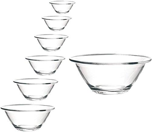 Bormioli Rocco Cuencos apilables de cristal Mr. Chef en varios tamaños, tamaño 1 x cuenco de 30 cm