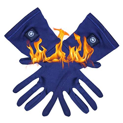 HUO FEI NIAO SHOP Guanti Impermeabili Riscaldamento Bicicletta, Touch Screen Invernale artrite Mano più Calda, Terza Marcia di Controllo della Temperatura Fino a 65 ° (Colore : Blue, Taglia : XL)