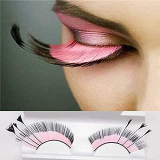 Dorisue Halloween Eyelashes Light Pink for eyelash extensions Goth Princess Pink Lash Kit Cosplay barbie doll Feather Lashes