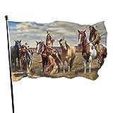 Bandera americana del orgullo nativo ornamento de la bandera americana 3x5 al aire libre de la bandera del jardín bandera bandera de Estados Unidos bandera decorativa bandera de 3 x 5 pies