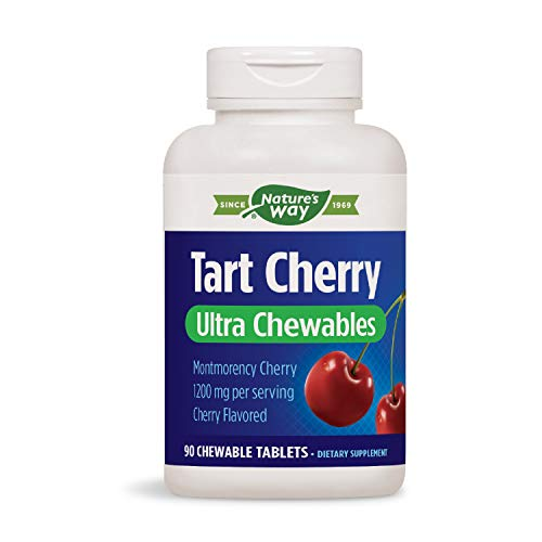 Enzymatic Therapy Tart Cherry Ultra Chewable, 1,200 mg per Serving