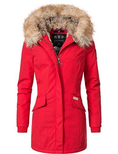 Navahoo Damen Winterjacke Winterparka Cristal Rot Gr. S