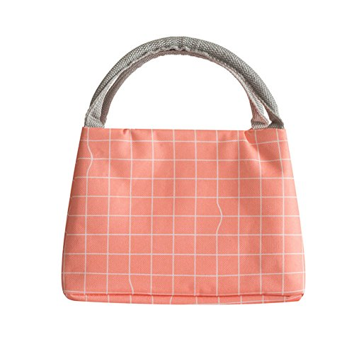 WeiMay Sac à lunch box Épaissir Isolation Tissu Oxford Portable Sac à lunch Feuille d'aluminium Imperméable Sac d'isolation (Rose)