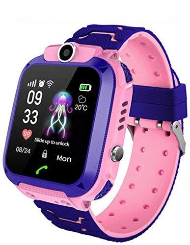 Reloj Inteligente para niños para niñas Niños con cámara de Llamada de 2 vías Juego de Rompecabezas Despertador SOS Vice Chat Linterna Rastreador GPS Reloj Inteligente 1.44 Pulgadas Relojes con