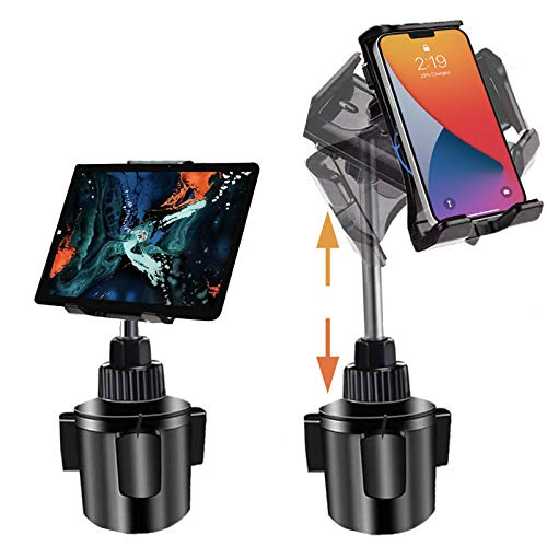 Tablet Halterung Auto für iPad Pro, iPad Autohalterung, Getränkehalter Tablet Halterung für PKW LKW Schwerlast Cradle Ständer mit Ausziehbarem Hals compatible mit iPad Air Mini Pro Kindle Samsung