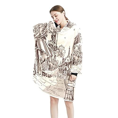 trippy Art - Sudadera con capucha para mujer y hombre, talla única, Color-10, Talla única