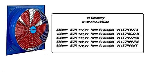 Uzman-Versand 550 MM industriële ventilator, d'extraction axiaux mural, d'air axial ventilators, extracteur helicoïde, ventilatie,