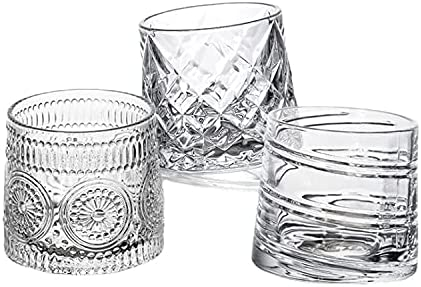 CLCYICEN Crystal Whiskey Glasses-Premium Set 3 Old of Max 72% mart OFF Rotatable