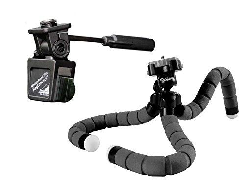 Statief voor op reis met tafelstatief en raamklem voor kleine SLR en compacte camera