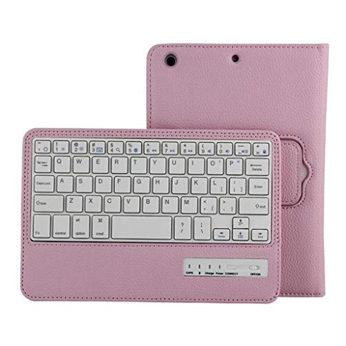 Funda de piel para iPad Mini 1/2/3 de 7,9 pulgadas | Funda para tablet PC con soporte | Funda protectora con función atril | Funda con función atril para teclado inalámbrico Bluetooth