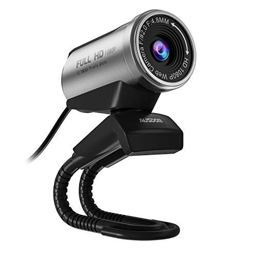 AUSDOM USB Webcam 1080P, 12.0 M Webcam Web HD Microfono Incorporato per Laptop Computer Desktop, PC Video Camera Web Skype per Vedieo Call & Recording, Compatibile con Windows 7/8/10