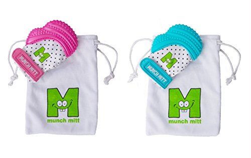 Review Munch Mitt Teething Toy Stays on Babys Hand is Self-Soothing Entertainment and Gives Pain Rel...