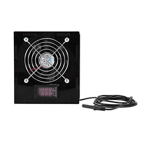 Refroidisseur de Thermostat d'Aquarium, Radiateur de Thermostat d'Aquarium avec Contrôleur de Température pour Aquarium d'Eau Salée/d'Eau Douce, Ventilateur Marin
