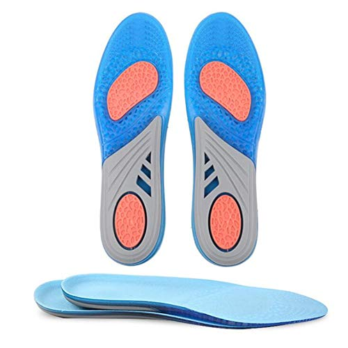 Comfort Gel Shoe Insoles for Women Men Long-time Walking and Standing, Sports Shoe Inserts,Full Supports All-Day Shock Absorption and Cushioning Work (US Men 3-9 & Women 4.5-11)