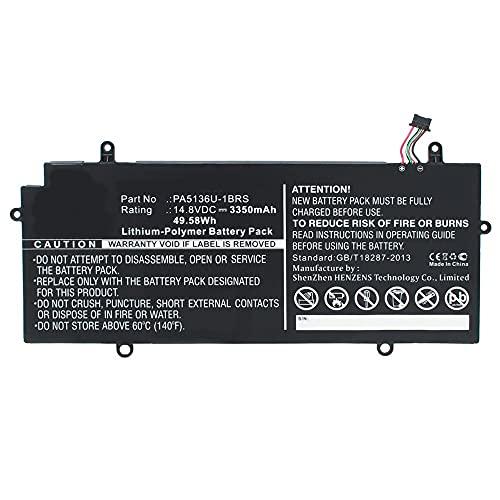 Synergy Digital Notebook, Laptop Battery, Compatible with Toshiba Portage Z30-A-1EI Notebook, Laptop Battery (14.8, Li-Pol, 3350mAh)