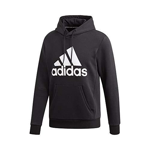 adidas Herren Sweatshirt MH BOS PO FL, Black/White, M, DT9945
