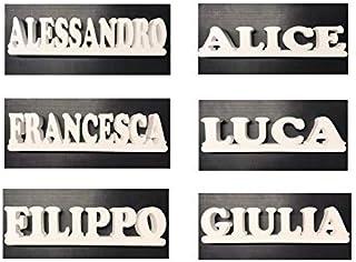NOME PERSONALIZZATO o SCRITTA PERSONALIZZATA IN POLISTIROLO CON BASE D'APPOGGIO – Altezza lettera 14 cm, Lunghezza 59 cm, ...