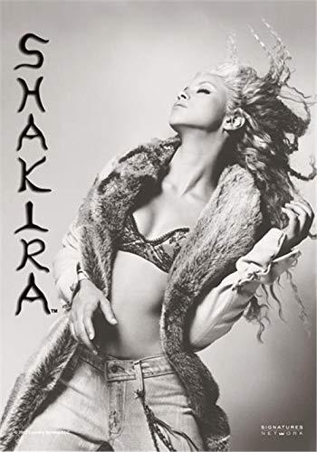 Heart Rock Flagge Original Shakira B-W, Stoff, Mehrfarbig, 110x75x0.1 cm