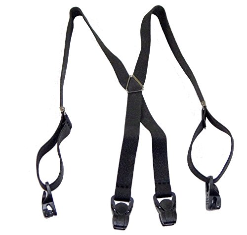 Holdup Suspender company's 24' Infant size X-back Black Suspenders with black Patented Gripper Clasps