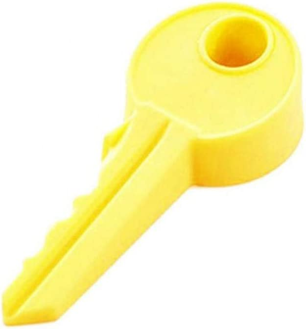 Yellow Vibola Decorative Rubber Door Stopper Cute Key Shape Style Door Stopper Silicon Doorstop Safety Baby Door Stopper