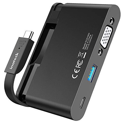 Inateck Hub USB C Adaptador con Cable Integrado, Adaptador Puerto USB C...