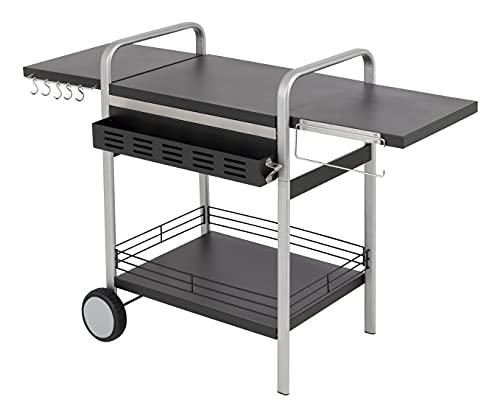 tepro Gasgrill Universal BBQ-Tisch, abklappbare Seitenablagen, Aufbewahrungskorb