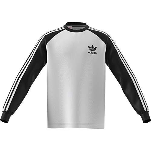 adidas California Long Sleeve, Maglietta Bambino, Bianco, 140