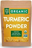 Organic Turmeric Root Powder w/ Curcumin | Lab Tested for Purity | 100% Raw from India | 32oz/907g (2lb) Resealable Kraft Bag | by FGO