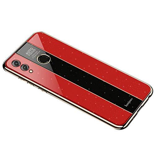 """UBERANT Capa Honor 8X Max, bumper de TPU macio e leve e capa de combinação traseira de acrílico Bling Bling Bling à prova de arranhões Capa protetora à prova de choque para Huawei Honor 8X Max 7,2"""" Vermelho"""