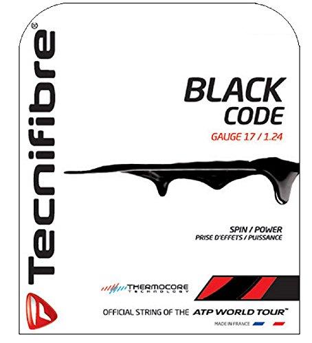 Tecnifibre Black Code Cordage tennis Noir 12 m x...