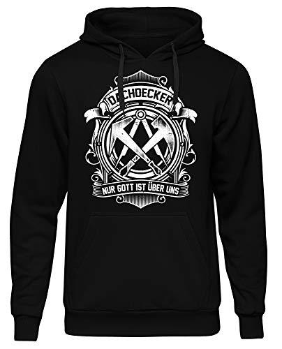Uglyshirt89 Dachdecker Männer Herren Kapuzenpullover | Handwerker Bauarbeiter Arbeitskleidung Zunft Opa Papa | M4 (XL)