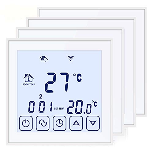Beok tds23wifi Digitaler Unterputz Raumthermostat per App Programmierbarem Fußbodenheizungs-Temperaturregler Mit Touchscreen, 16A, 220V(4packs))