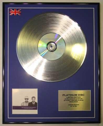 PET SHOP BOYS/Limitierte Edition Platin Schallplatte/DISCOGRAPHY