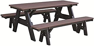 Wildridge Heritage Outdoor Picnic Table with Unattached Benches - Ships in 10-14 Business Days