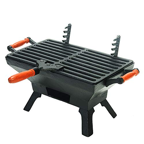 Sungmor Cast Iron BBQ Charcoal Smoker Grill | Gran tamaño (40.5 ×...