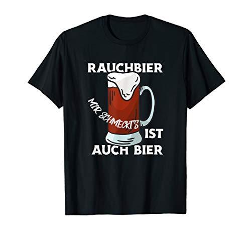 Rauchbier ist auch Bier Spruch Bierseidel Seidla Bierkenner T-Shirt