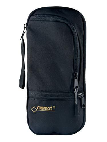 [riemot] パスポートケース スキミング防止 貴重品入れ 携帯便利 多機能収納 出張 旅行用 ブラック