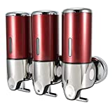 Fdit Dispenser di Sapone Liquido per Bagno Manuale Hotel Servizi igienici pubblici Doccia a Parete Shampoo Dispenser Strumento Forniture per Bagno(#3)