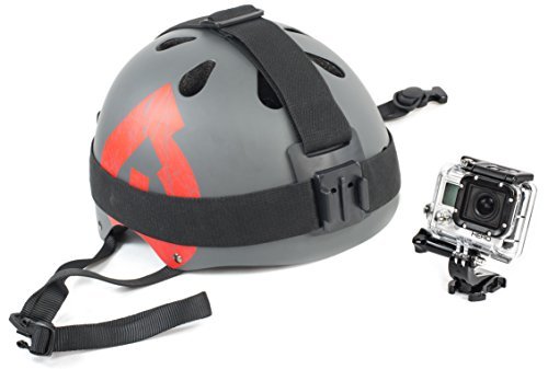 Velocity Clip Strong Helmet Strap & Head Mount Fits All Types of Helmets, Hats, Beanies, And Heads. For Snowboarding, Bikes, Skateboarding, and Motorcycles For GoPro