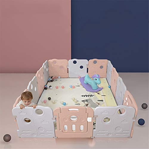 Cheapest Price! Lumeng Baby Playpen Foldable Portable Room Divider Child Kids Barrier Expandable Pla...