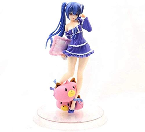 WUluMEI Super Dimension Game Anime Neptune Nova Clean Pajama Pillow PVC Mobile Model Toy Collectible Set Height: 11 cm
