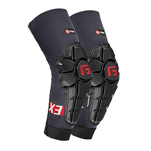 G-Form Pro-X3 Ellenbogenschoner für MTB, BMX, DH, Radfahren, Snowboarden, Skateboard, Fußball, Grau, XL